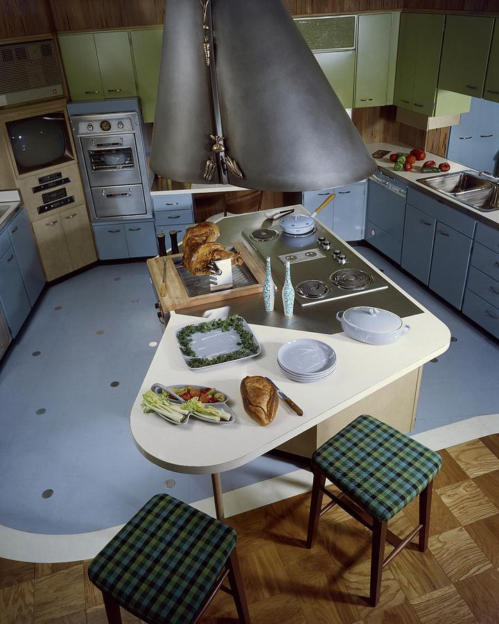 A Kitchen Designed By Ralph & Jane Bonnell Photograph by George De Gennaro