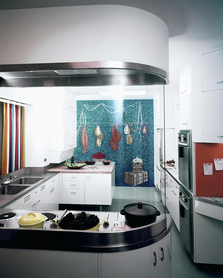 A Kitchen Designed By Valerian S. Rybar Photograph by John Rawlings