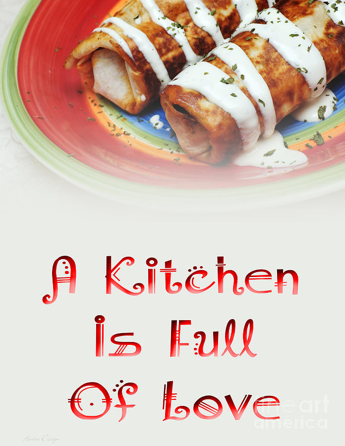 Food Digital Art - A Kitchen Is Full Of Love 2 by Andee Design