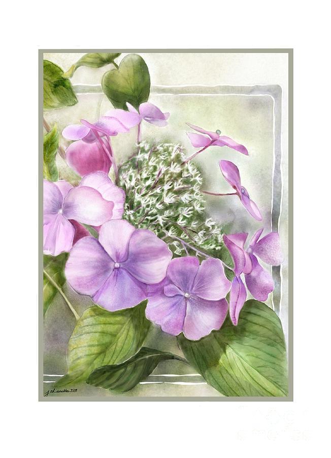 Notecard Digital Art - A Lacy Cap Notecard by Joan A Hamilton