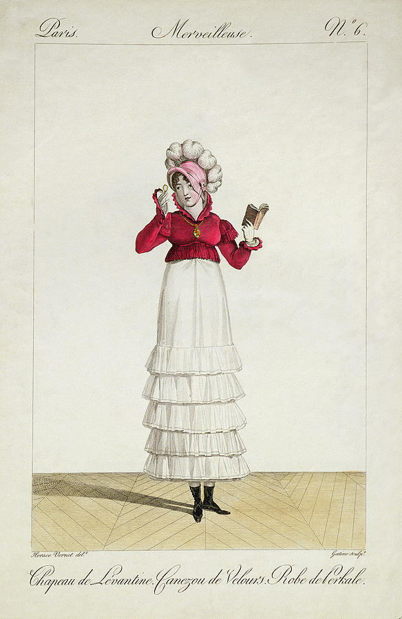 Ostrich Feathers Drawing - A Lady In A Levantine Hat by Antoine Charles Horace Vernet