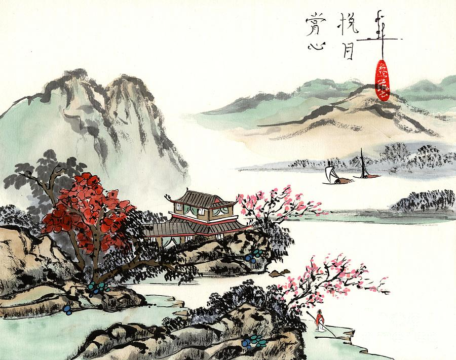 A Landscape in China - C204 by LINDA SMITH