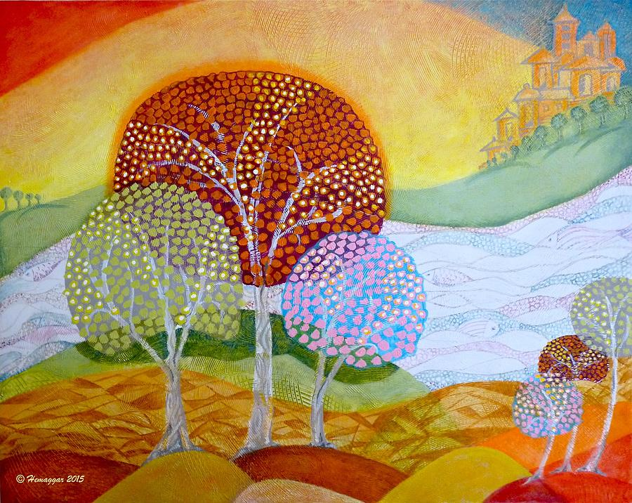 Landscape Painting - Landscape In My Dream by Hemu Aggarwal
