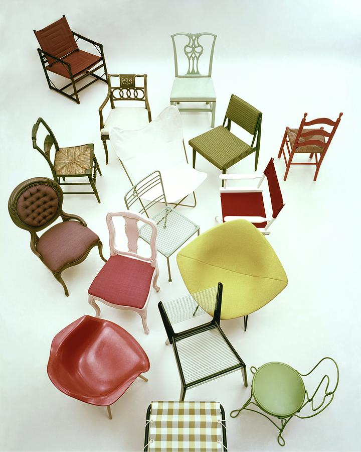 A Large Group Of Chairs Photograph by Herbert Matter