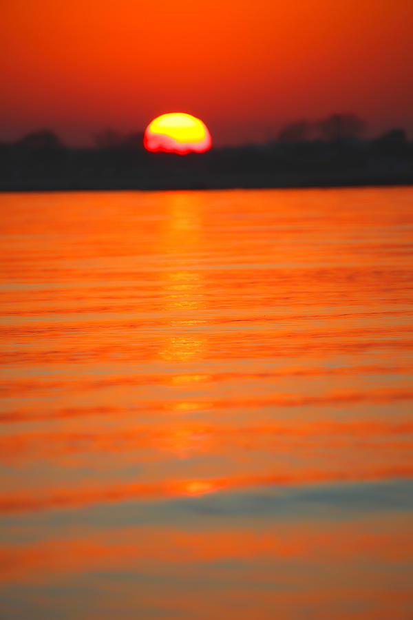 Sunset Photograph - A Last Sunset by Karol Livote