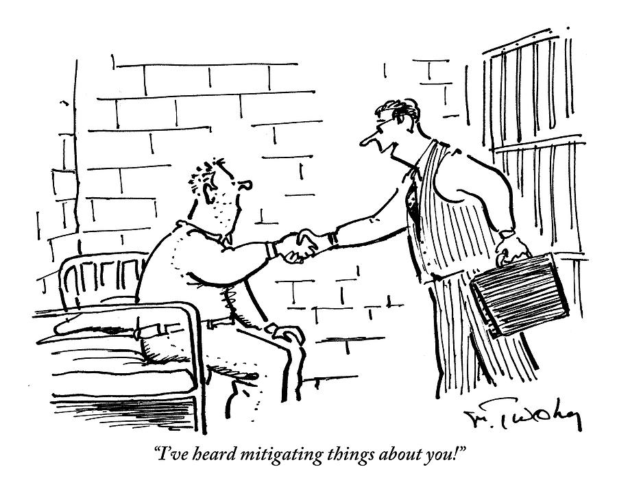 A Lawyer With A Briefcase Shakes The Hand Drawing by Mike Twohy