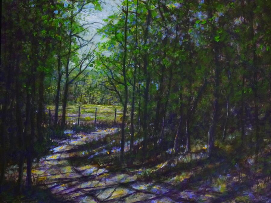 Landscape Painting - A Lazy Walk by Larry Palmer