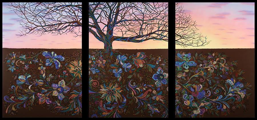 Landscape Painting - A Lifes Journey by James W Johnson