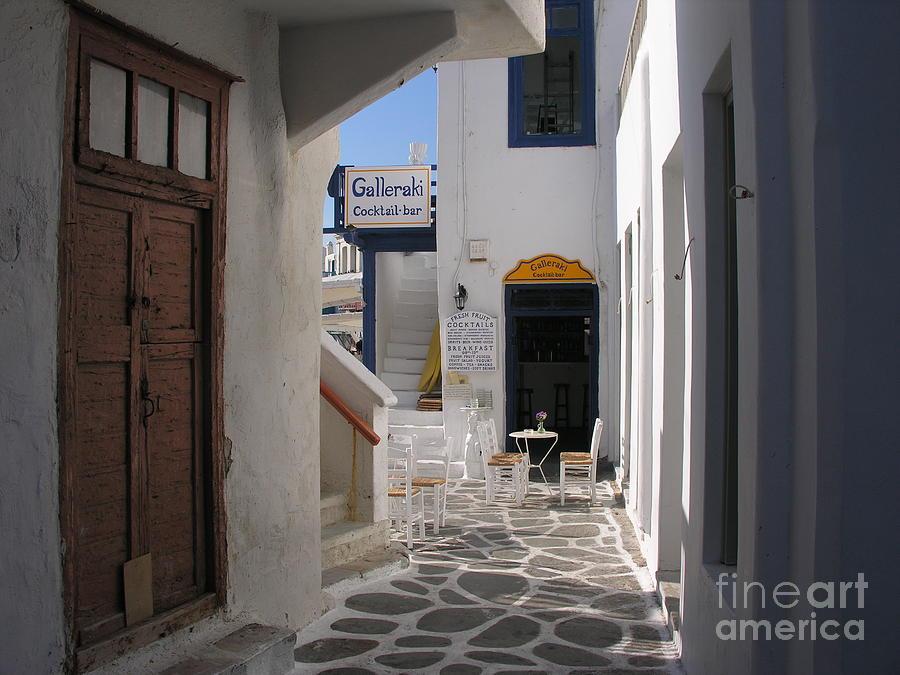 Cityscapes Photograph - A Little Alley Bar by Mel Steinhauer