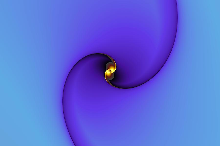 Abstract Digital Art - A Little Bit Of Gold by Mark Eggleston