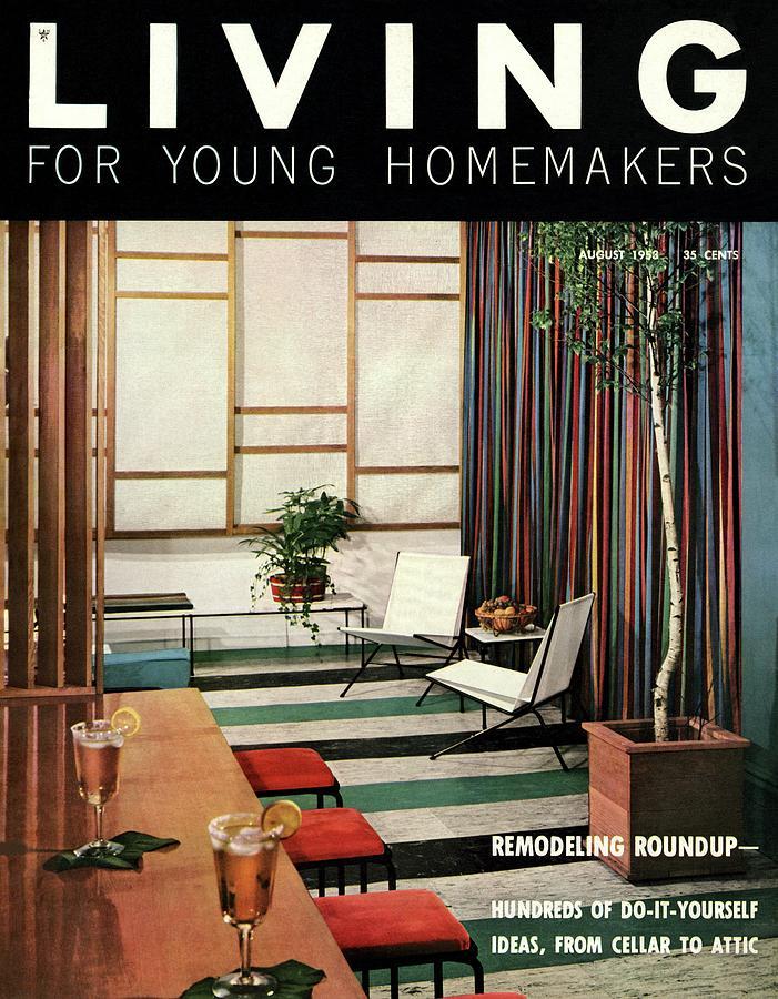 A Living Room With Flor-ever Tiles Digital Art by Ernest Silva