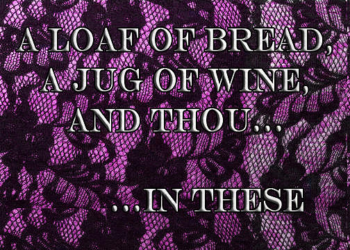 Midnight Lace Gift Enclosure Cards Painting - A Loaf Of Bread A Jug Of Wine And Thou...in These by Eve Riser Roberts