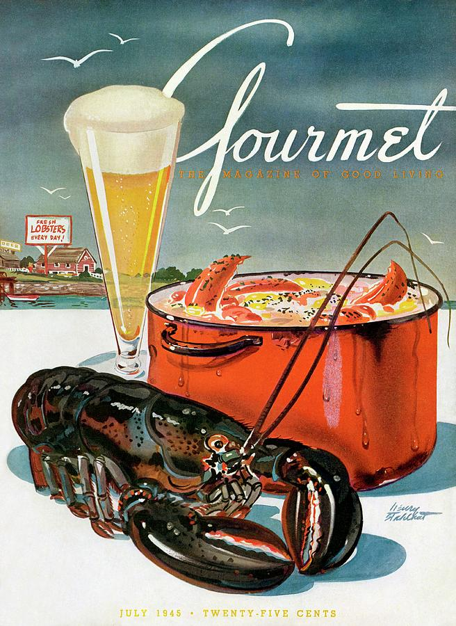 A Lobster And A Lobster Pot With Beer Photograph by Henry Stahlhut
