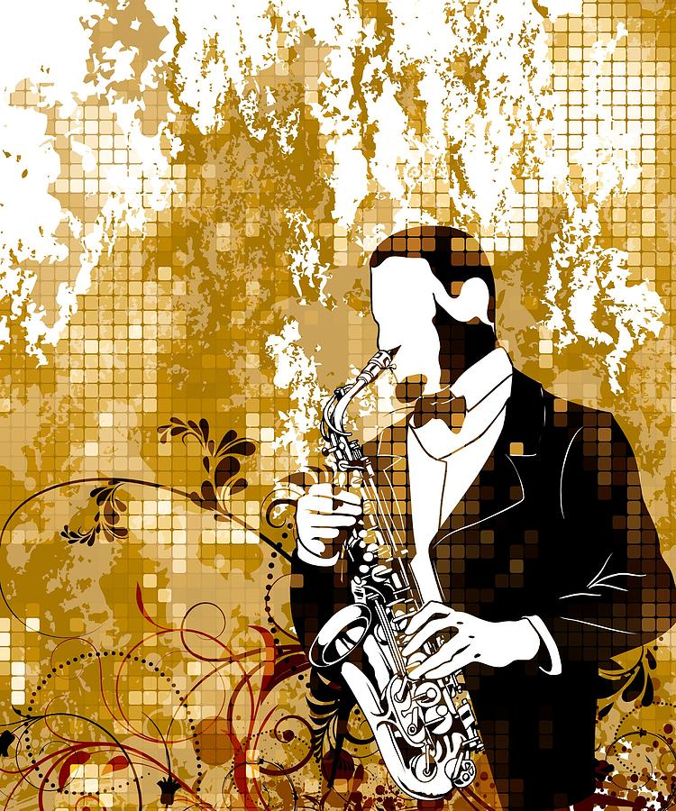 A Love For Sax Digital Art by Stanley Mathis