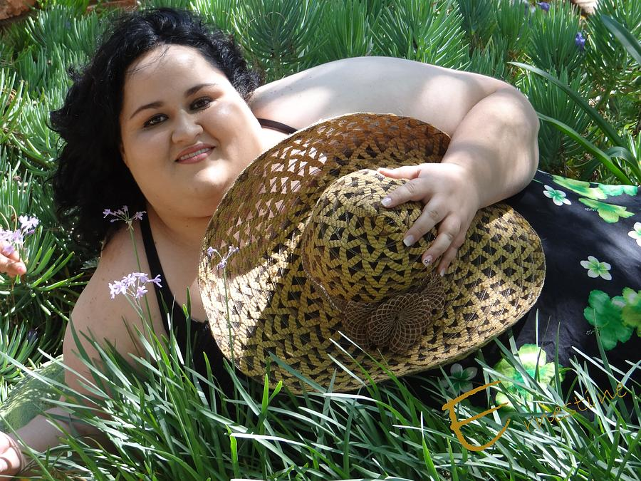 Fat Woman Photograph - A Lovely Hat by Ernestine Manowarda