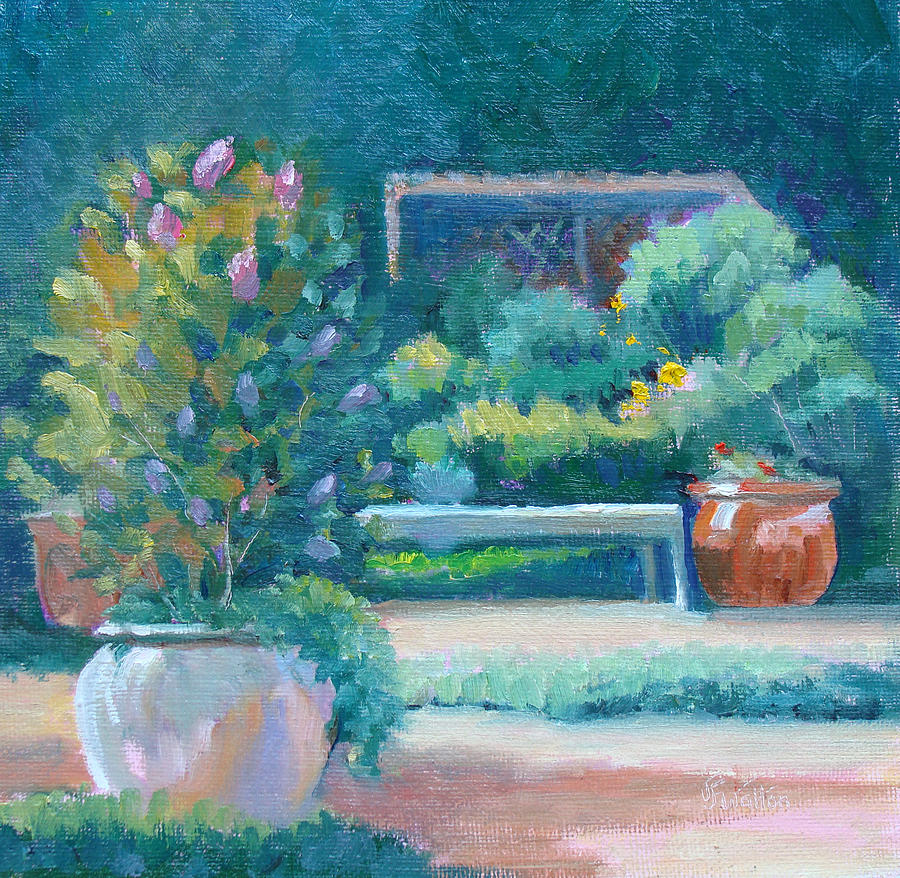 Kingwood Painting - A Lovely Place To Sit by Judy Fischer Walton