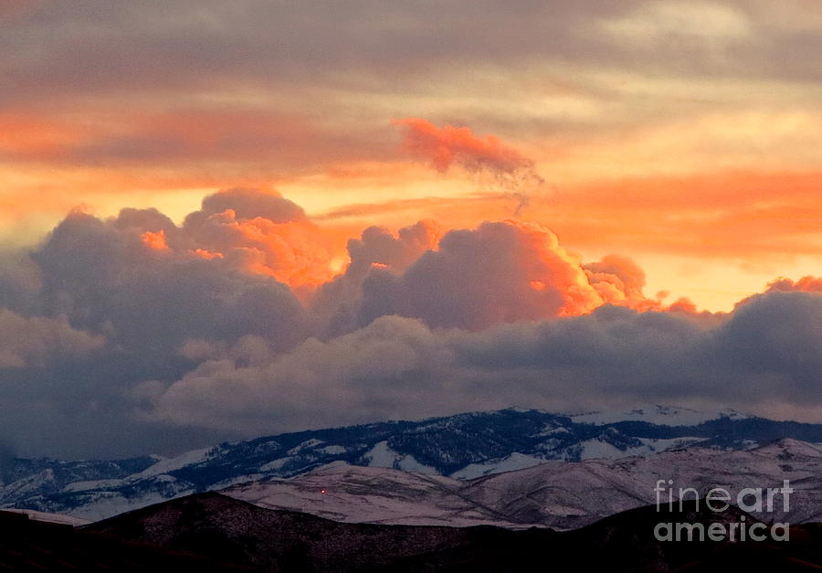 Sunset Photograph - A Lovely Stormy Susnset by Phyllis Kaltenbach