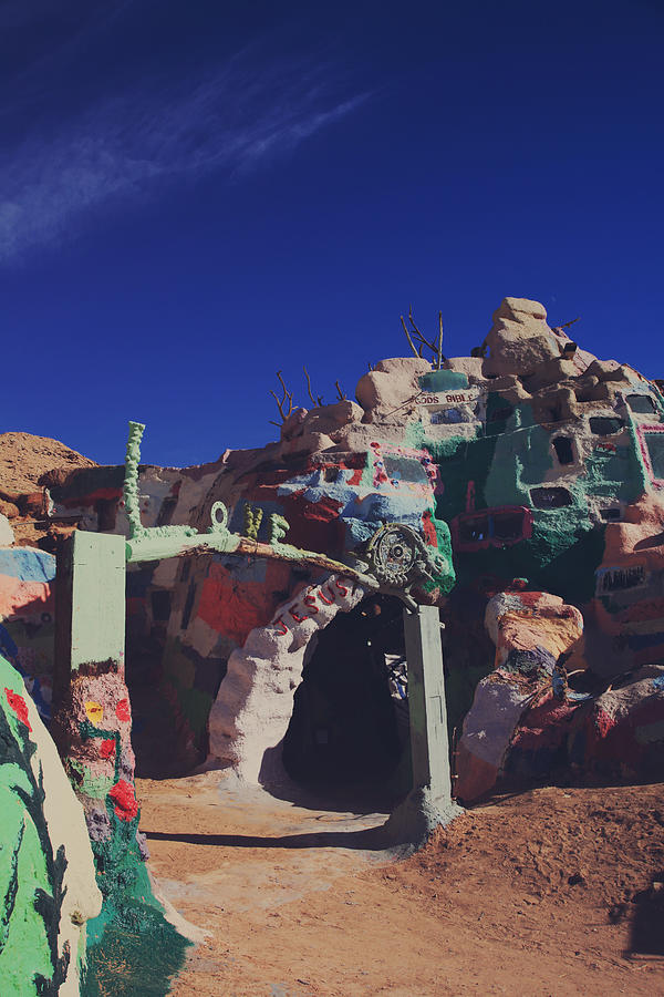 Salvation Mountain Photograph - A Loving Entrance by Laurie Search