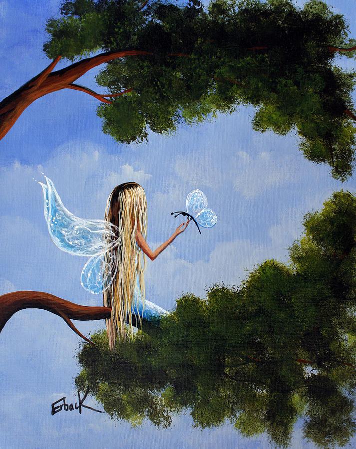Fairy Painting - A Magical Daydream Original Artwork by Erback Art