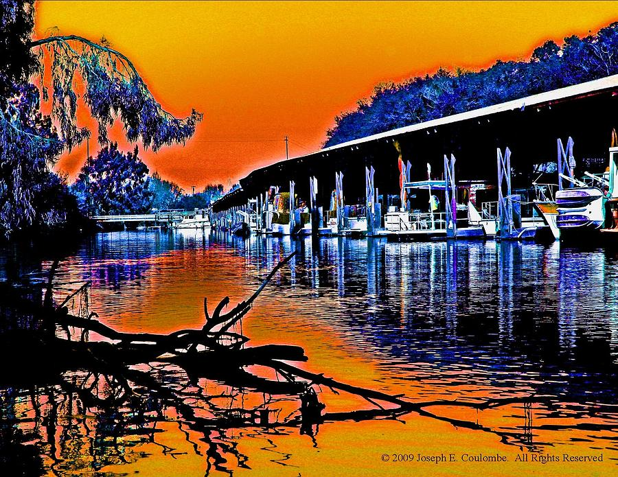Joseph Coulombe Digital Art - A Magical Delta Sunset by Joseph Coulombe