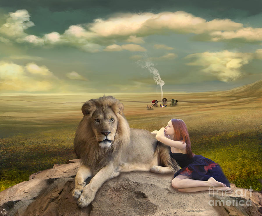 Circus Digital Art - A Magnificent Friendship by Linda Lees