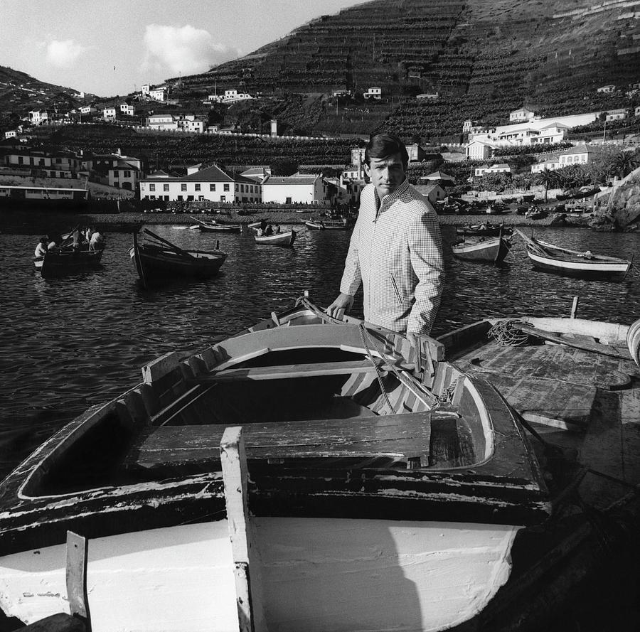 A Male Model At The Harbor Of Camara De Lobos Photograph by Leonard Nones
