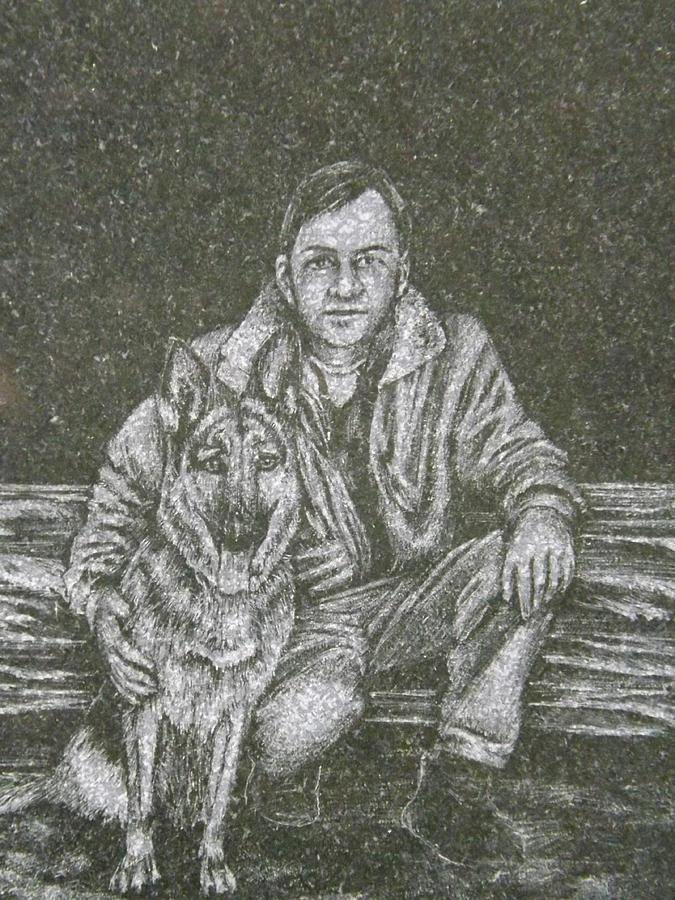 Dog Photograph - A Man And His Dog by Dennis Pintoski