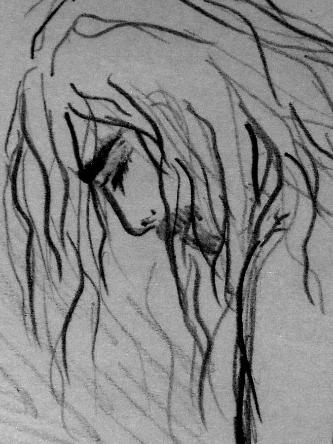 Jesus Christ Drawing - A Man by Donatella Muggianu