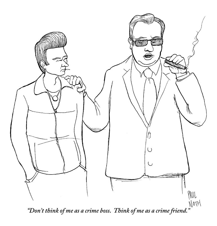 A Man In A Suit Smoking A Cigar Drawing by Paul Noth