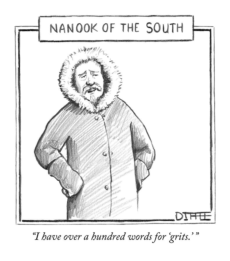 A Man In An Eskimo Coat Drawing by Matthew Diffee