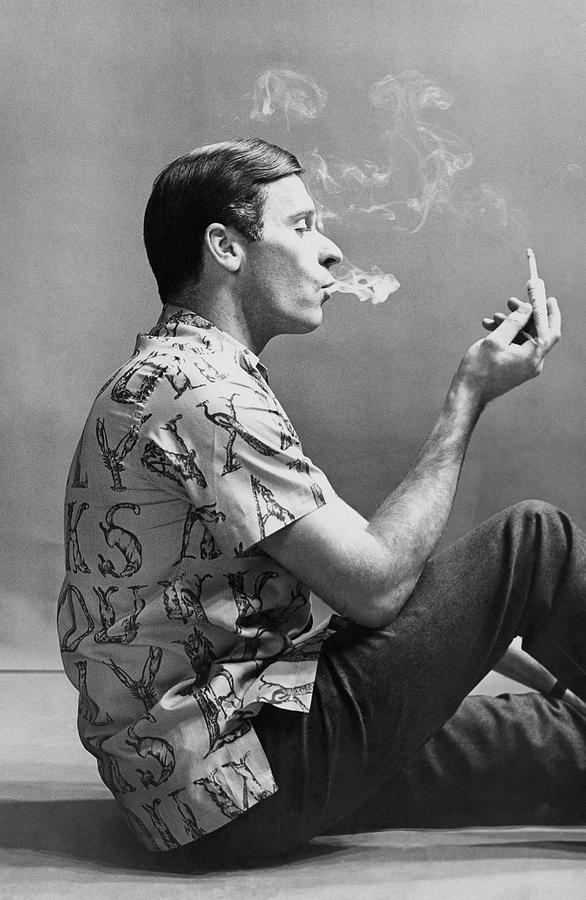 A Man Smoking Photograph by Emme Gene Hall