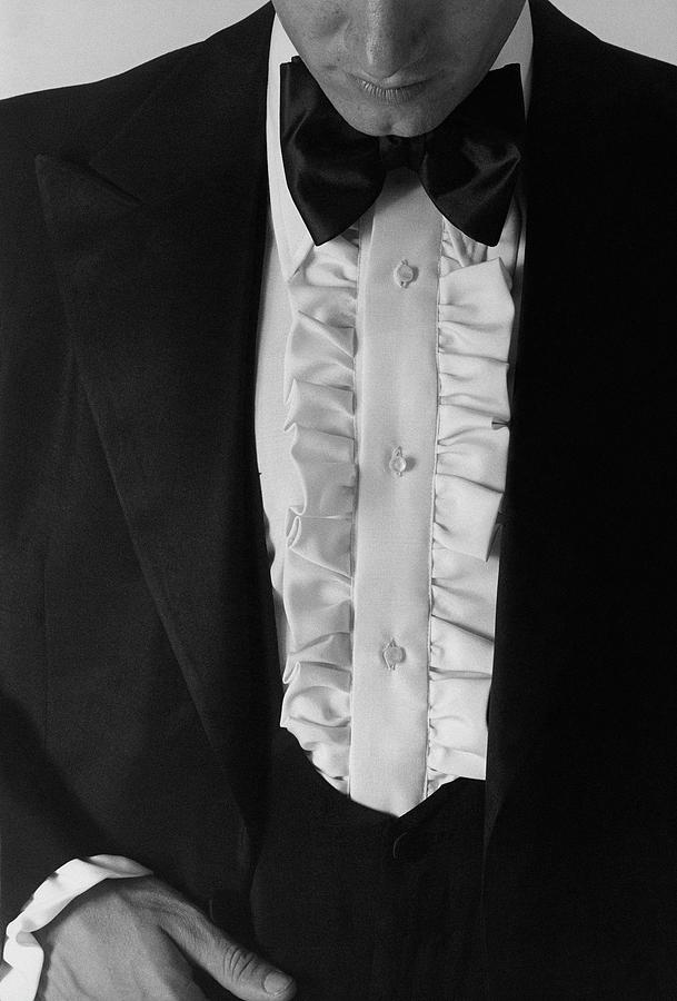 A Man Wearing A Tuxedo Photograph by Peter Levy