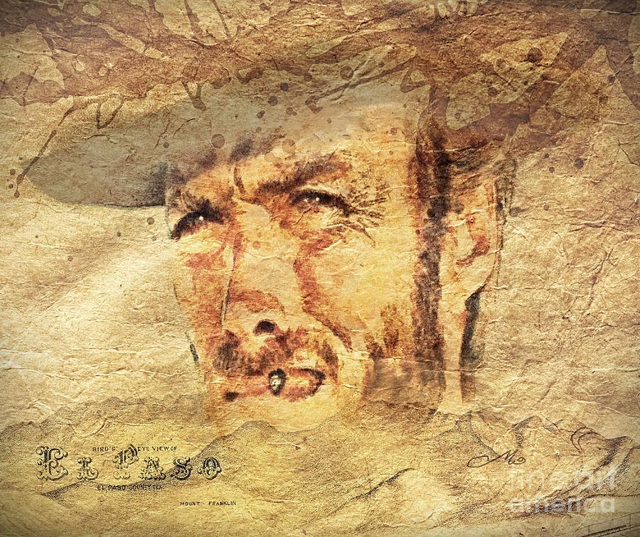 Clint Eastwood Painting - A Man With No Name by Mo T