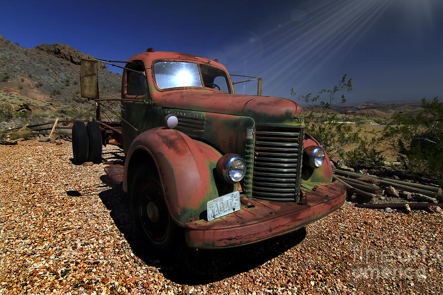 Trucks Photograph - A Mans Other Best Friend by Brenda Giasson
