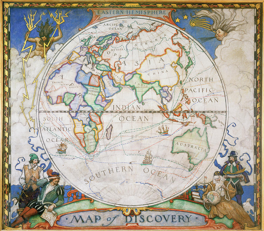 A Map Of The Eastern Hemisphere Photograph by Victor R. Boswell, Jr