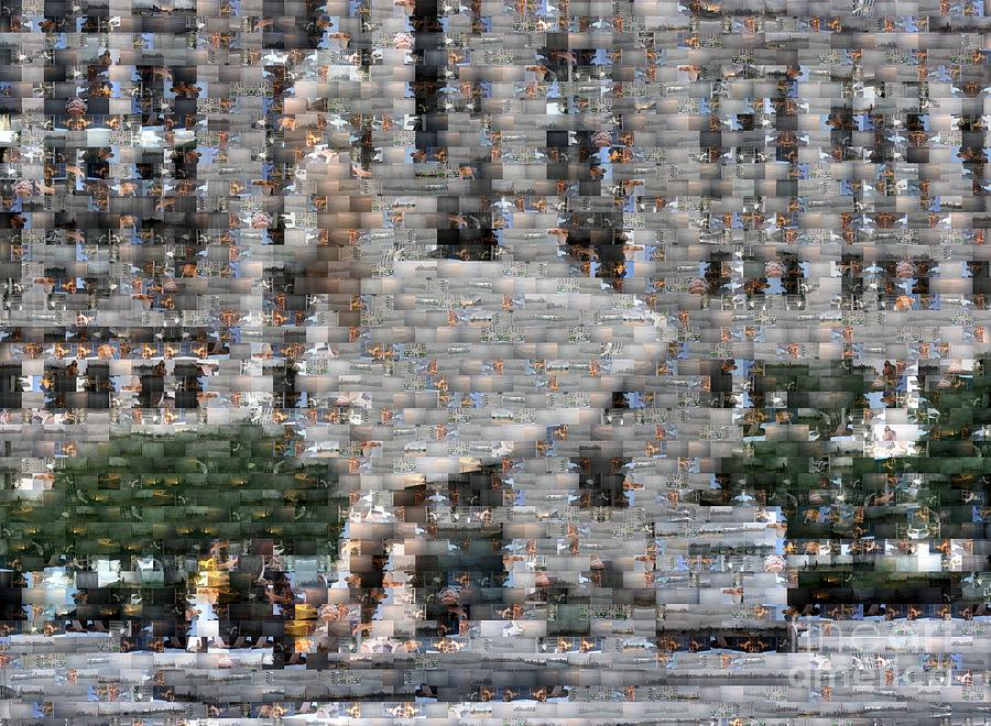 Marilyn Monroe Photograph - A Marilyn Mosaic by David Bearden