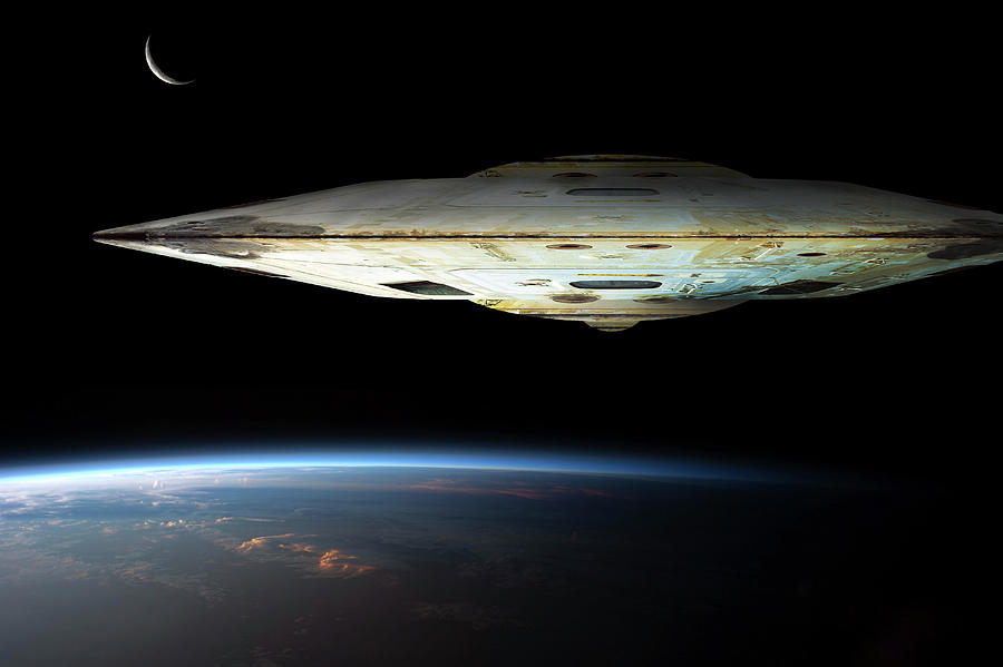 a massive spaceship known as mothership photograph by marc ward