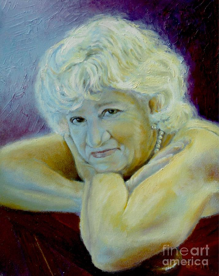 Woman Painting - A Masters Touch by Sharon Burger