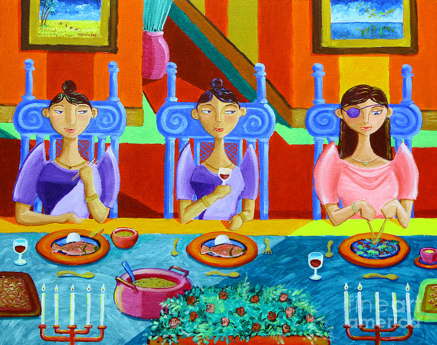 Philippines Painting - A Meal Without Rice by Paul Hilario