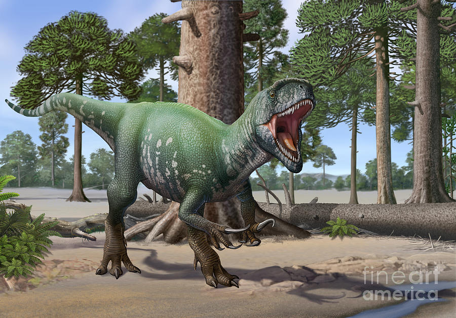 A Megaraptor Lets Out A Vicious Roar Digital Art By Sergey