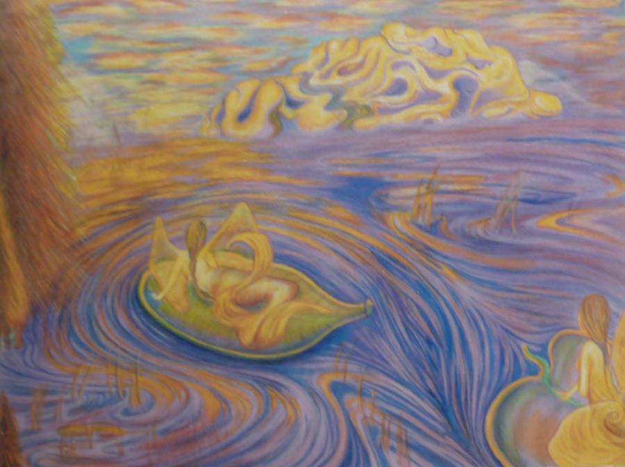 Mermaid Painting - A Mer-fairie Dream by Jacquelyn Roberts