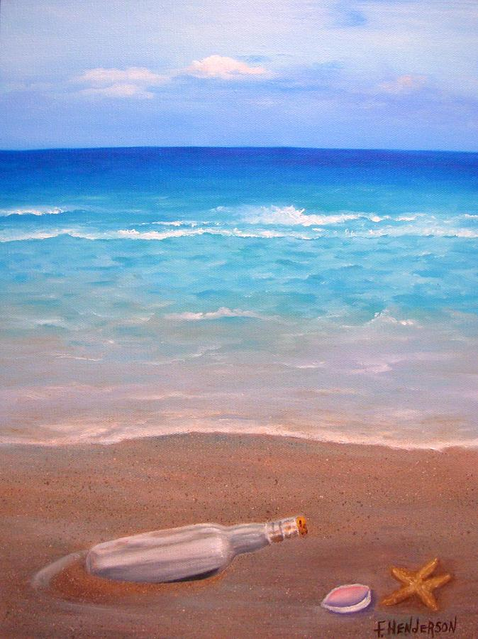 Seascape Painting - A Message for You by Francine Henderson
