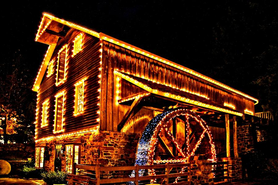 New Hope Photograph - A Mill In Lights by DJ Florek