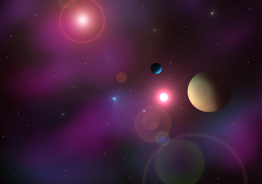 Planets Digital Art - A Million Light Years by Ricky Haug