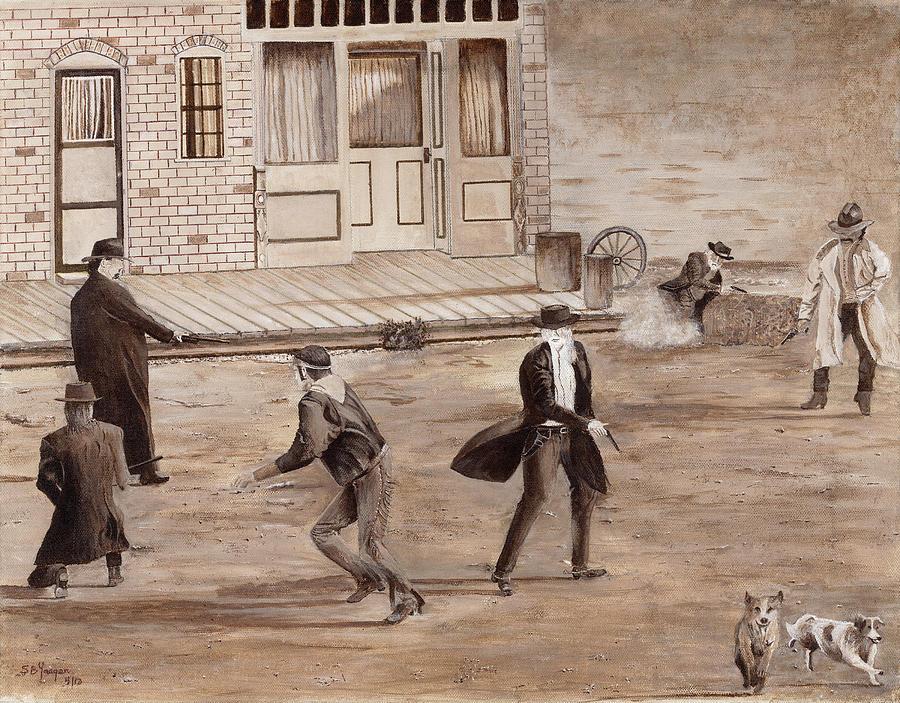 A Minor Misunderstanding Tombstone Az Painting by Stuart B Yaeger
