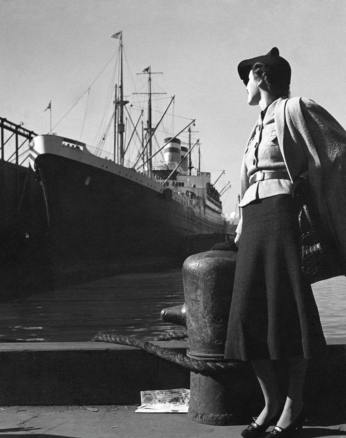 A Model At A Port Photograph by Toni Frissell