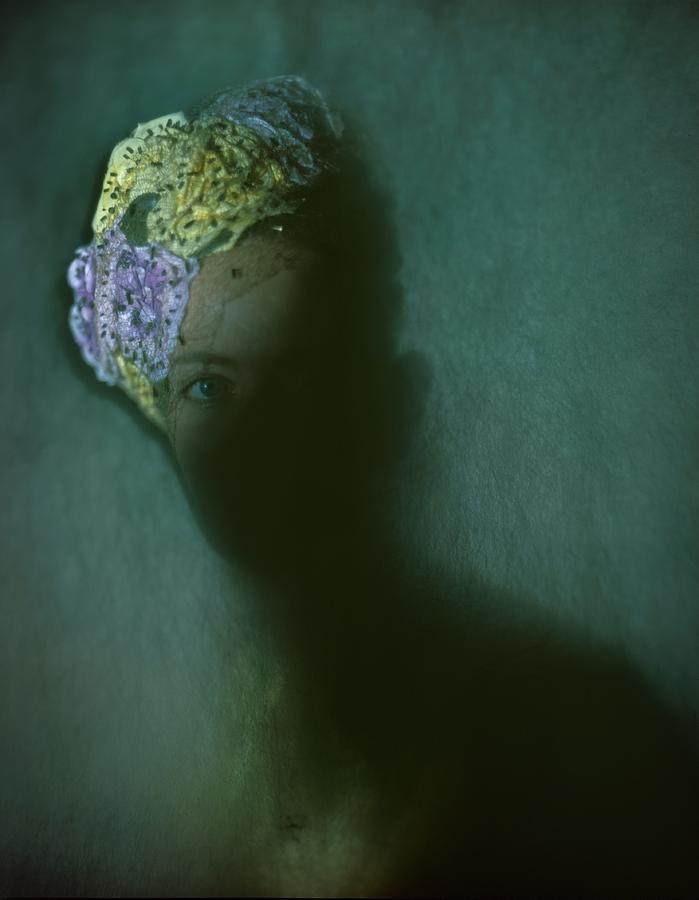 A Model In A Hattie Carnegie Bouquet Photograph by Constantin Joffe