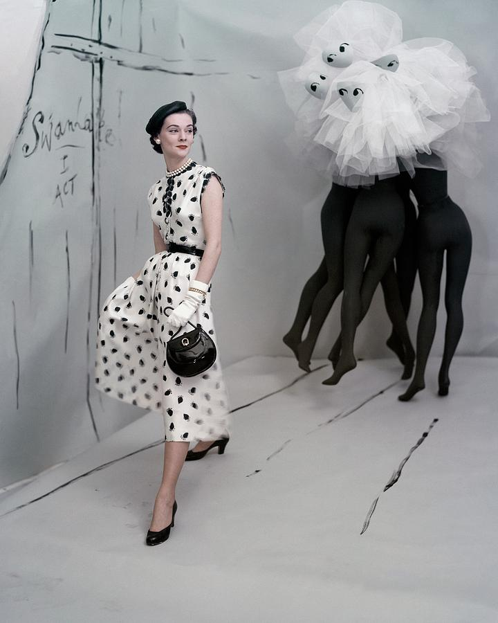 A Model In A Mollie Parnis Dress Photograph by Horst P. Horst