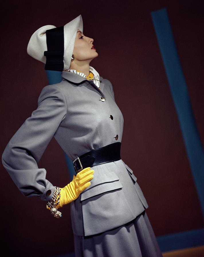 A Model In A Vogue Couturier Suit Photograph by Horst P. Horst