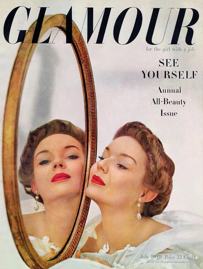 A Model Posing Against A Mirror Photograph by John Rawlings